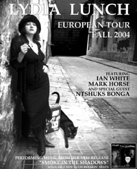Lydia Lunch Europe Tour